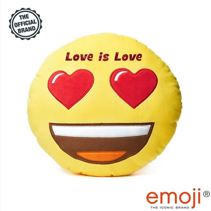 "'Love is love' Heart Eyes emoji® Brand Cushion. ""Love is love"" with our unique emoji® Heart Eyes cushion. Let us be your Love Bomb Guru's with our fun quirky slogan cushions. Each official emoji® brand cushion comes with a unique ""Love Quotes"" slogan making them the perfect gift for your loved one at this special time be they Birthdays, Anniversary's or Valentines"