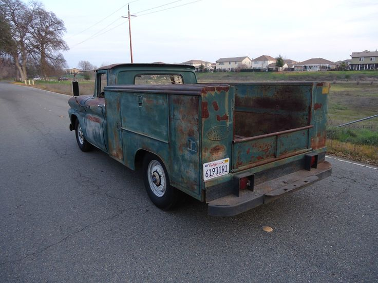 CALIFORNIA NATIVE 1961 CHEVY UTILITY BED TRUCK WITH NATURAL PATINA ...