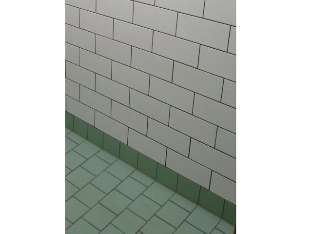 Tegel patroon vloer wand met metro tegel badkamer pinterest bathroom floor tiles bathroom - Tegel metro bordeaux ...