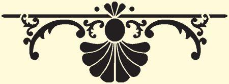 •  FABRYKA FANTAZJI •  Twoje szablony malarskie •  - Szablon malarski: Ornamenty inne 07