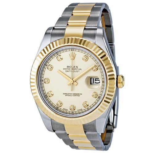 on sale rolex datejust ii ivory stainless
