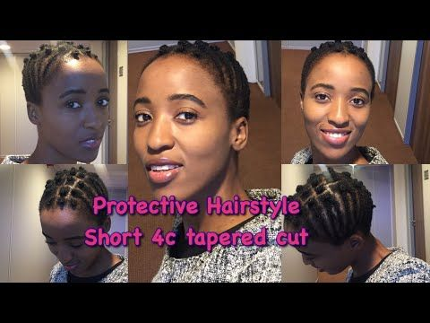 4c Hair | Protective hairstyle on tapered cut | 2017 - YouTube