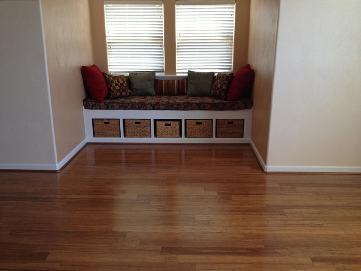 High Quality Bamboo Floors U0026 A Window Seat With Baskets Underneath For Storage!  #LLcustomers And #