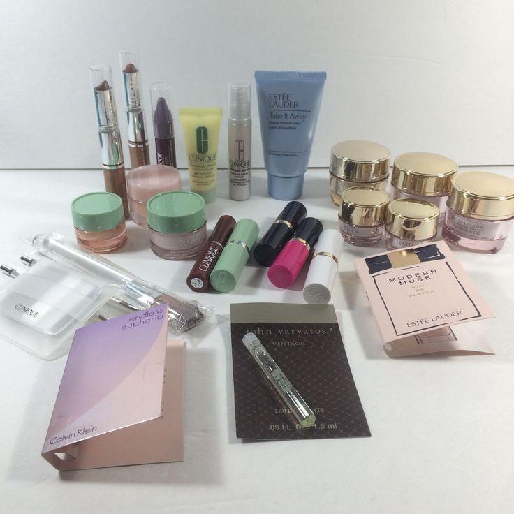Estee Lauder Clinique Make Up Lot 26 Pc Resilience Lipstick Black Honey Samples #EsteeLauderCliniqueMixedLot