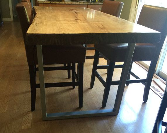 """28"""" Steel tube table legs by MooseheadMetals $163 for two legs inc shipping"""
