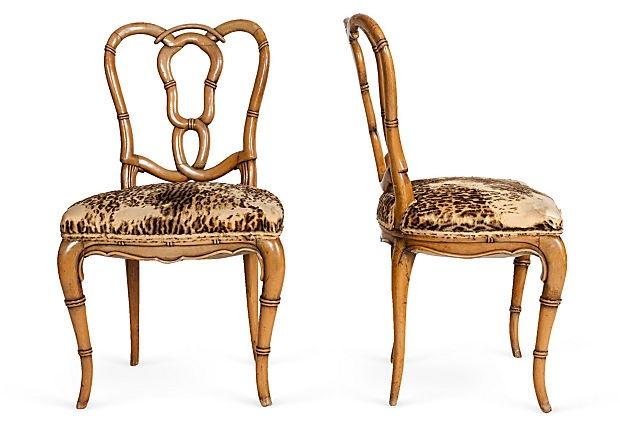 Leopard Chairs, Pair on OneKingsLane.com