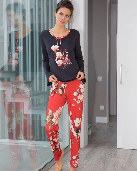 50e7b5a7d Pijama massana invienro flores