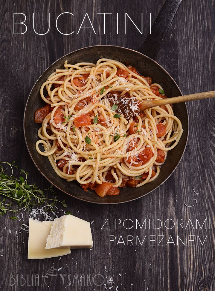 bucatini with tomatoes