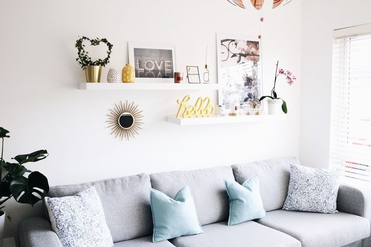 How To Style The Ikea Lack Shelves Abovecouch Ikea Lack Shelves Style Regal Hinter Der Couch