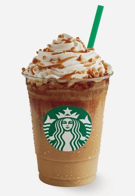 Starbucks Caramel Ribbon Crunch Frappuccino!  Yummo!