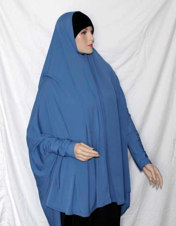 Solid Extra Long Khimar Tunic www.Hijabilicious.com $16
