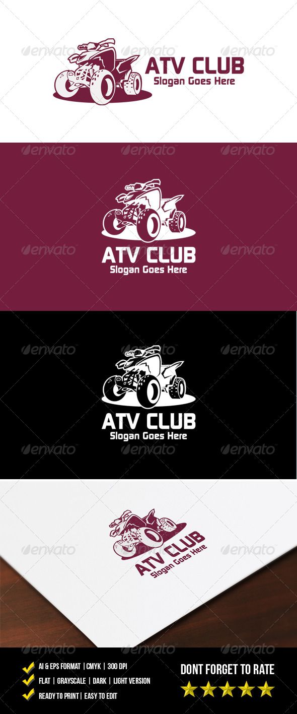 ATV Club Logo — Vector EPS #auto #moto • Available here → https://graphicriver.net/item/atv-club-logo/7214479?ref=pxcr