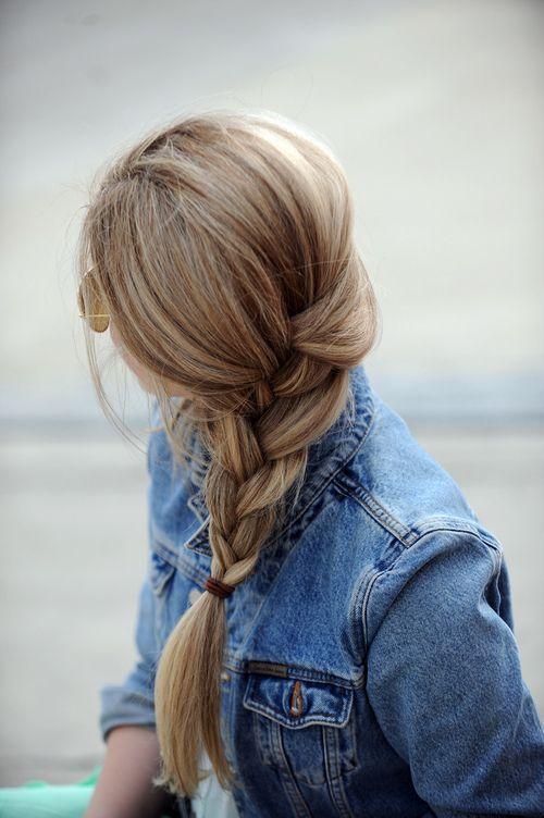 Side braids. #herstyle #denim