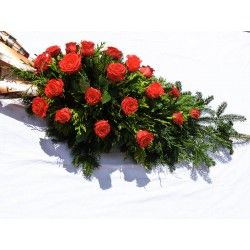 Palma pogrzebowa róże