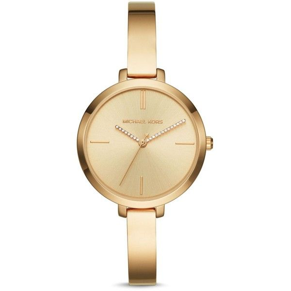 Michael Kors Jaryn Watch, 36mm (€165) ❤ liked on Polyvore featuring jewelry, watches, gold, yellow gold jewelry, michael kors watches, gold jewellery, michael kors and gold watches