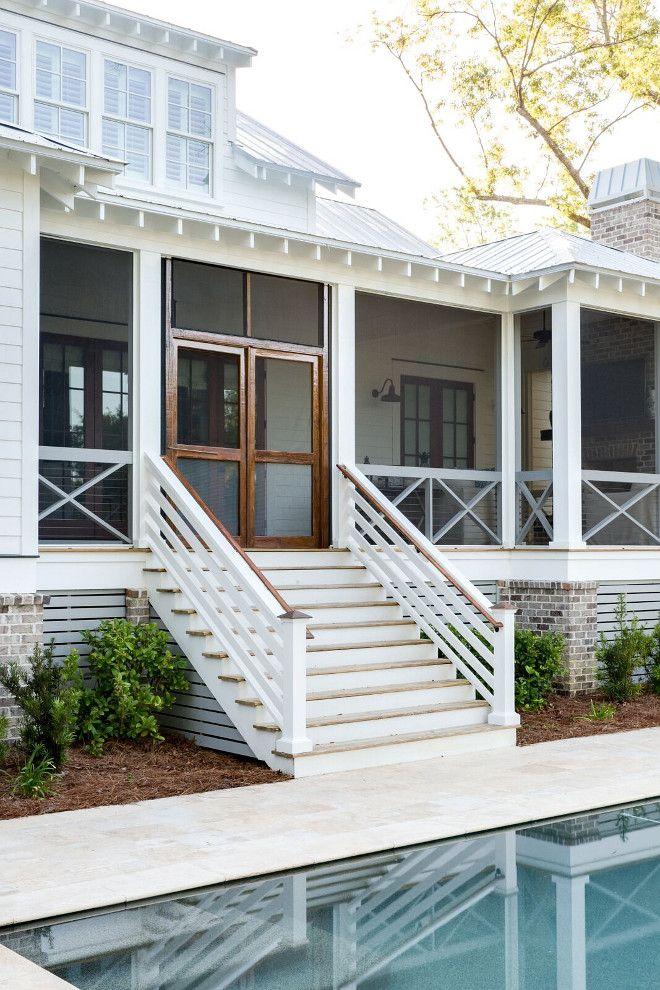 Lowcountry Style Coastal Farmhouse Porch Design Farmhouse