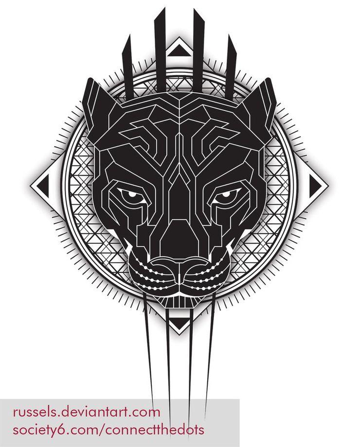 Geometric-black-panther Web by RusselS.deviantart.com on @DeviantArt