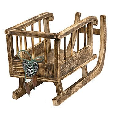Deko-Objekt Holzschlitten jetzt bei weltbild.de bestellen