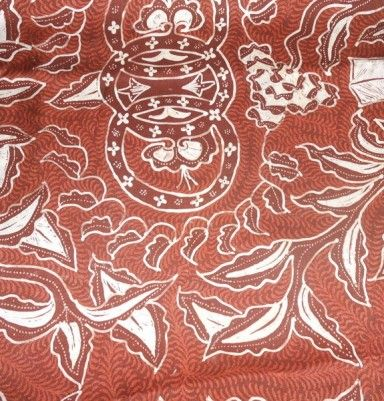 Natural Color Silk Batik – Leaf Motif