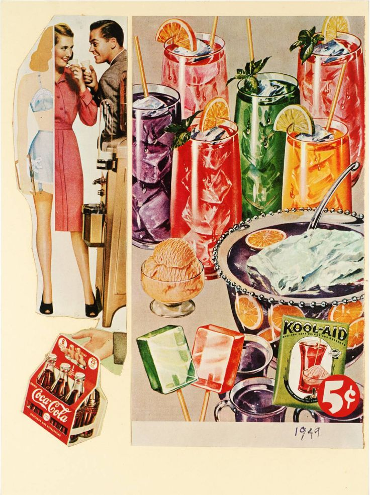 Refreshing and Delicious, 1949. Screenprint and lithograph on paper. 37.8 x 28.1 cm