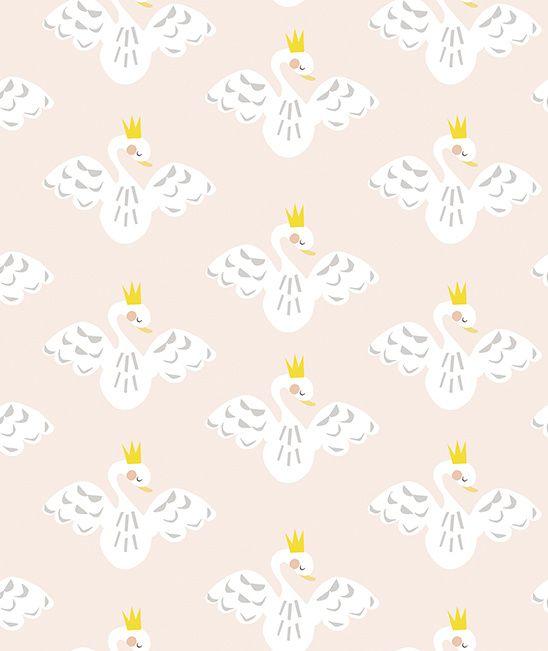 My Lovely Swan Behang   Gras onder je voeten