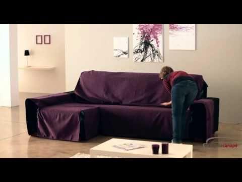 Housse couvre-canapé d'angle universelle