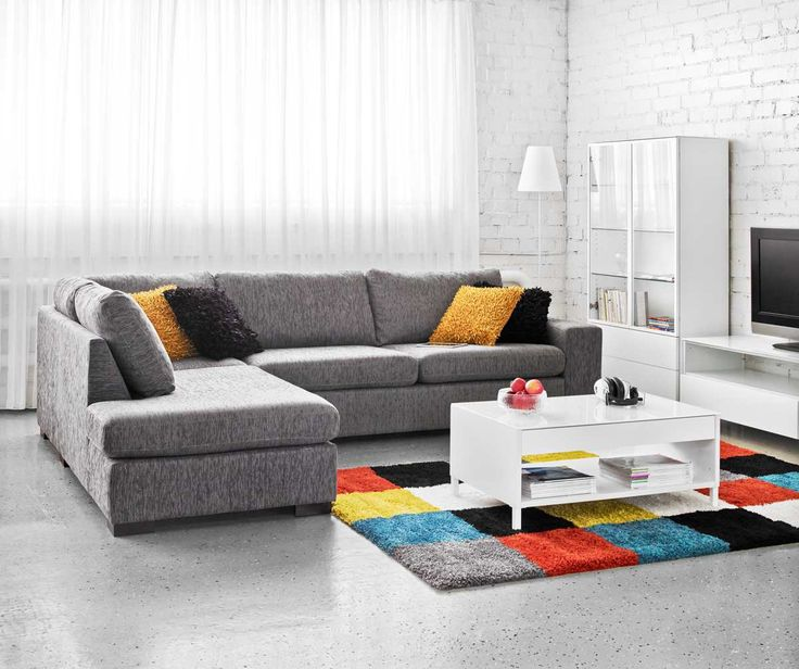 ADA 3 avopääty, harmaalla Diana-kankaalla. ADA-sohvat rentoon sisustamiseen, sohvilla on 2 vuoden runkotakuu.  Laulumaa Huonekalut