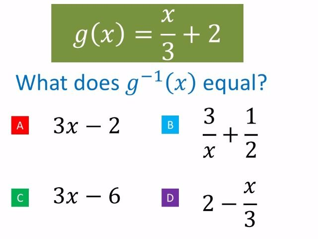 Inverse Functions for the new maths GCSE