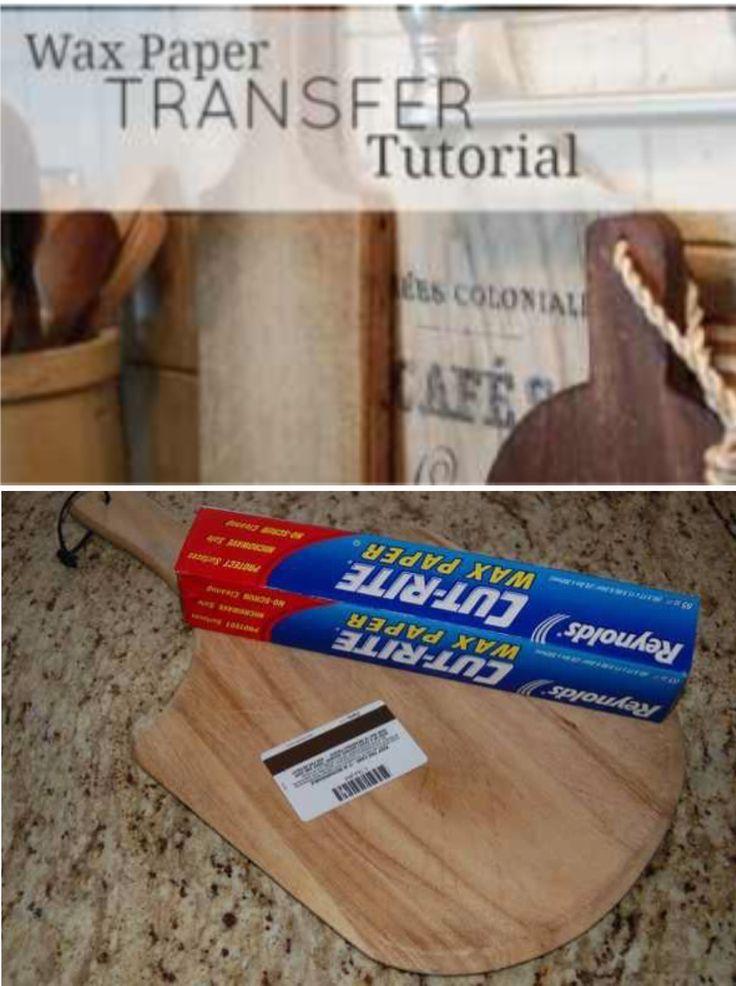 'Transfer Images Using Wax Paper: Tutorial...!' (via unexpectedelegance.com)