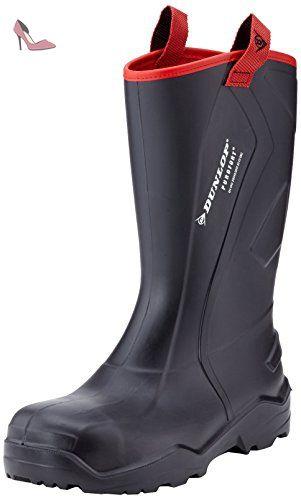 Dunlop Mens Purofort+ Rugged Steel Toe & Mid Safety Wellington Boots - Chaussures dunlop (*Partner-Link)