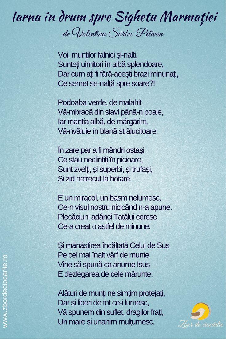 Poezii despre iarna, poezii Sighetu Marmatiei, poezii munti, poezii romanesti, poezii de Valentina Sarbu-Pelivan