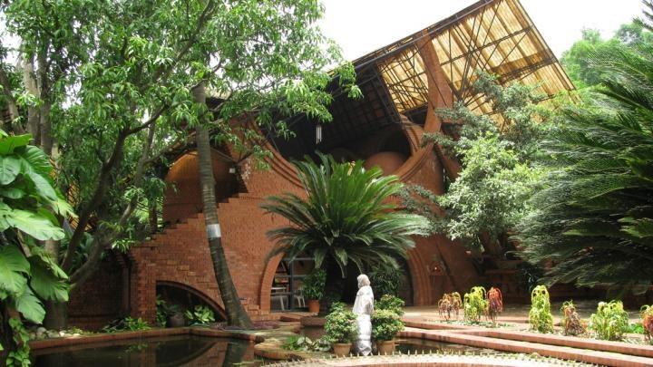 Nari Gandhi House, A photo from SRDA. #architecture #design