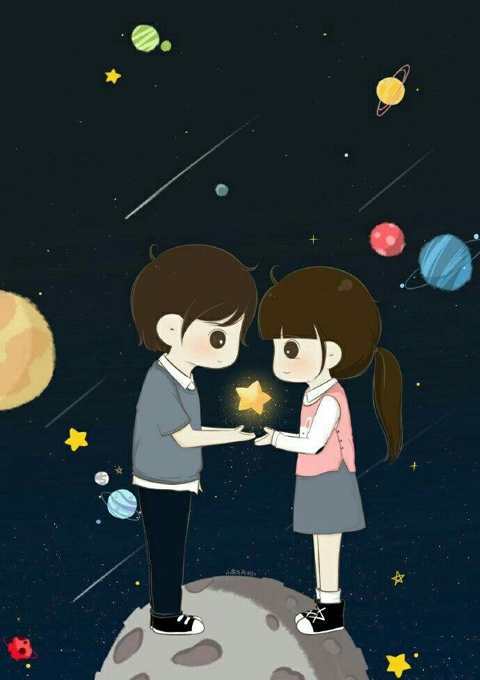 Ms Cute Couple Wallpaper Cute Love Cartoons Anime Love