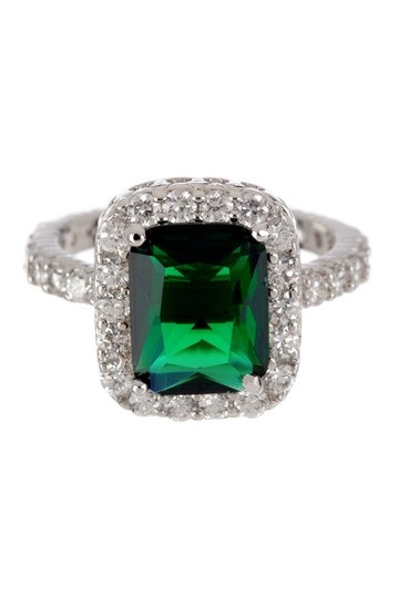 Bold & Brilliant: Crystal Jewelry, Emerald Cut & Pave CZ Band Ring