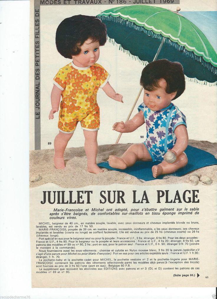 1969 Page Poupée marie francoise Michel Modes et Travaux 186 Mini Patron au dos | Loisirs créatifs, Crochet, tricot, Patrons, modèles | eBay!