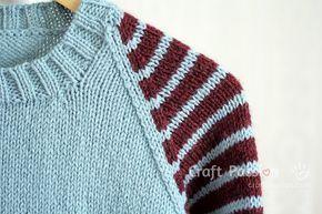 stripe raglan shoulder