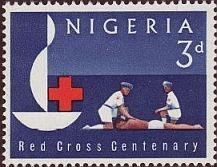 Emlékbélyeg a Vöröskereszt centenáriumára (1963)