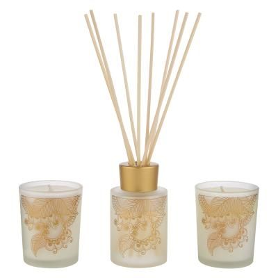 Moroccan Rose Luxury Candle and Diffuser Set