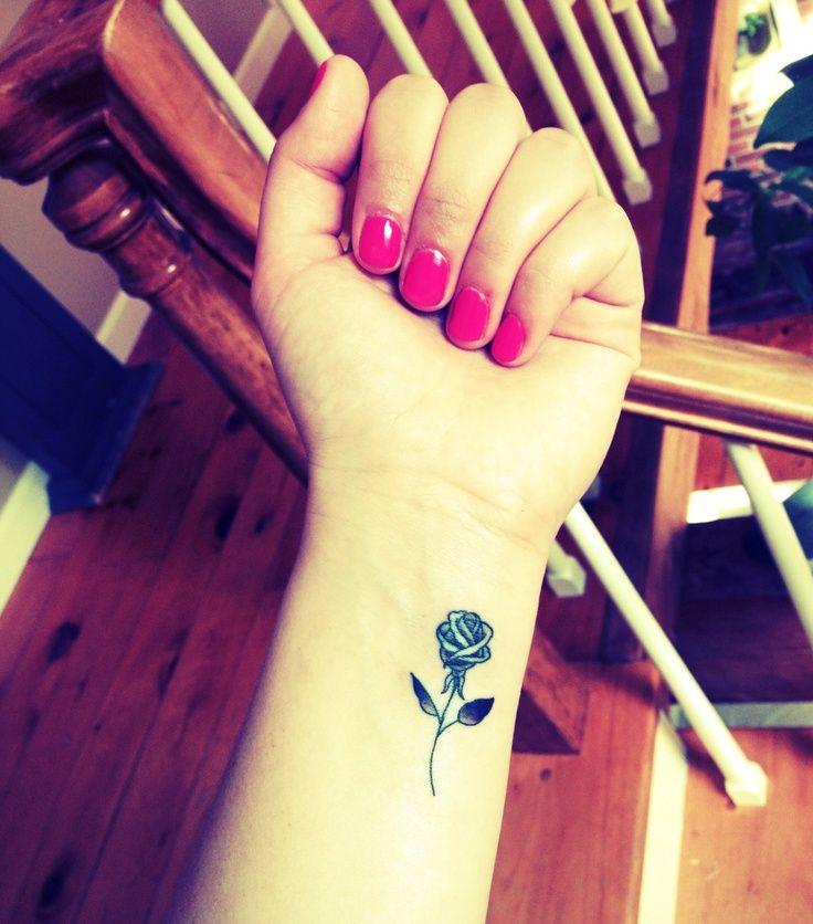 rose tattoos on the wrist   my rose tattoo! #rose #tattoo #wrist   Ink ♥