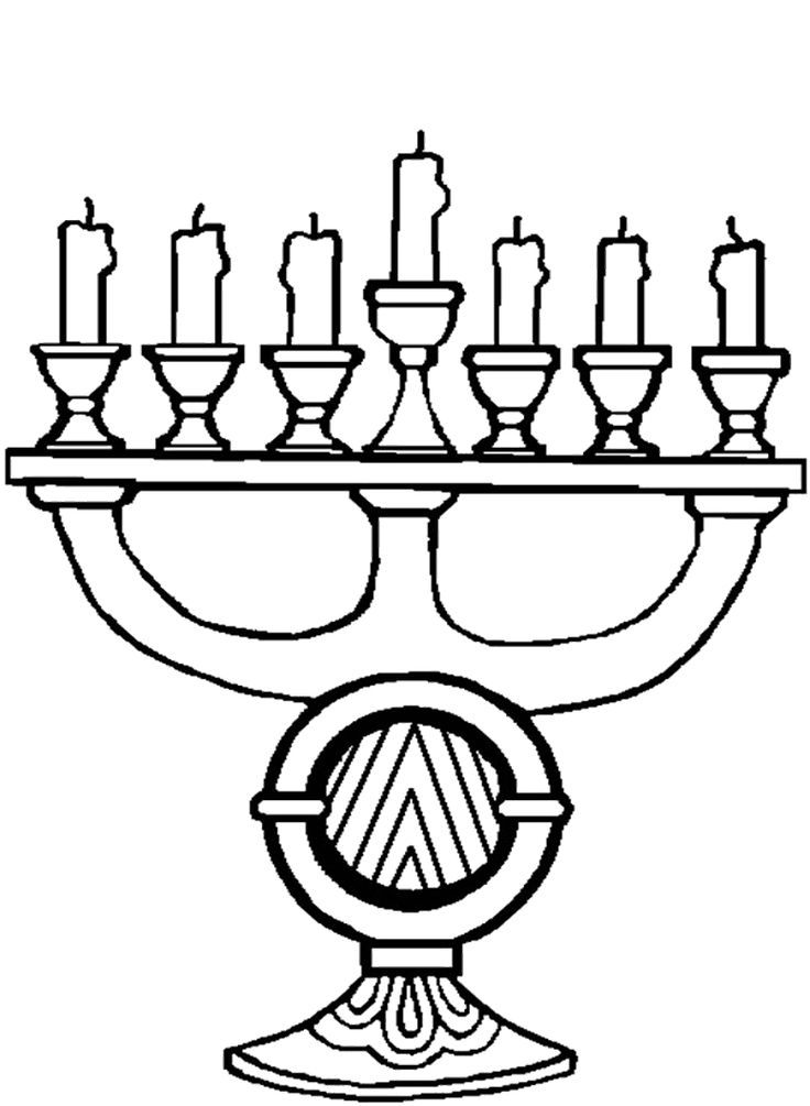 Candle Kwanzaa Coloring Pages School Kwanzaa Colors