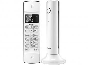 Telefone Sem Fio Philips Expansível até 4 Ramais - Identificador de Chamadas Linea Agenda Telefônica