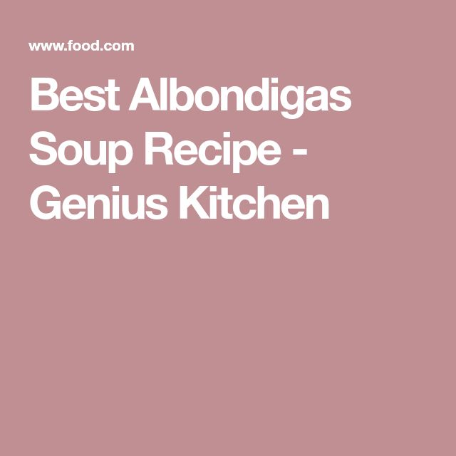 Best Albondigas Soup Recipe - Genius Kitchen