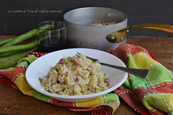 Risotto con fave e pancetta,un primo piatto squisito e semplice da preparare,un primo di stagione delizioso e di facile esecuzione.Un primo primaverile