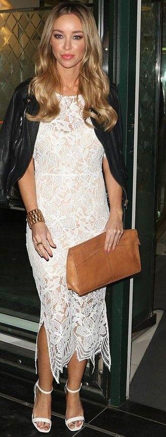 Lauren Pope In White Luna Maxi Dress | ForLoveAndLemons