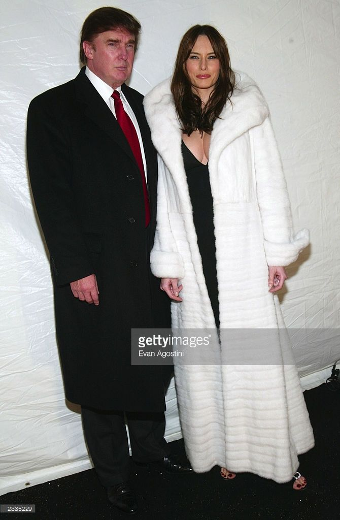 Donald Trump and girlfriend Melania Knauss arriving at the 2002 Victoria's Secret Fashion Show at Lexington Avenue Armory in New York City. November 14, 2002. Photo by Evan Agostini/Getty Images.