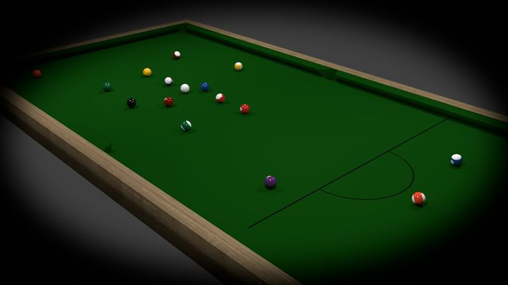Quick Pool Table, Modeled and Rendered in Blender Cycles. One day project.