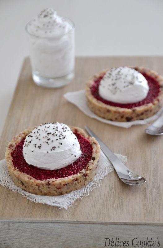 Tartelettes Crues au Pomelos & Graines de Chia, Chantilly Coco {IG Bas + #Vegan} @ Délices Cookie's