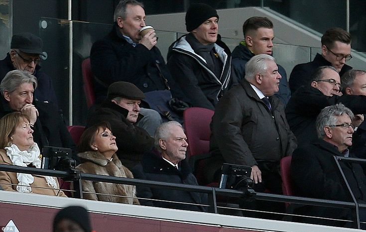 Following a difficult week, West Ham co-owner David Gold sits in the stands to watch the g...