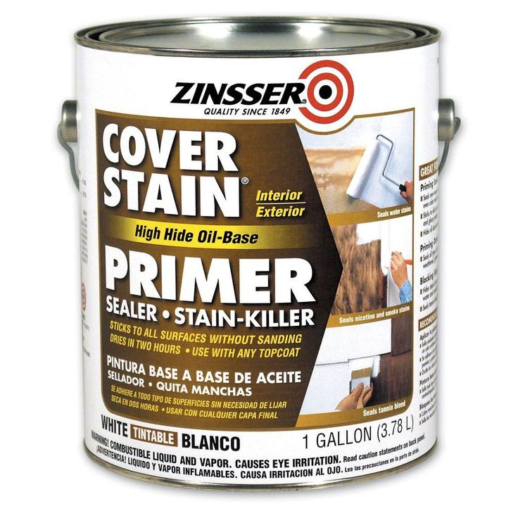 Zinsser 1 gal. White Flat Cover Stain Primer (Case of 4)