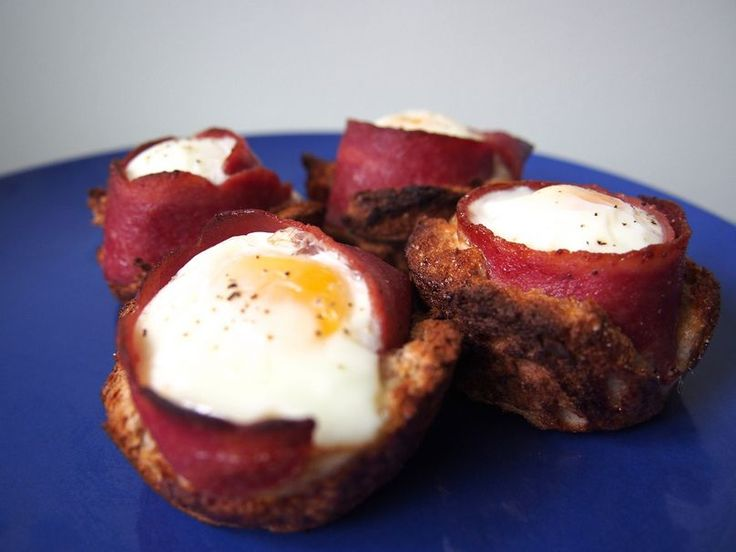 How to Make Bacon and Egg Toast Cups